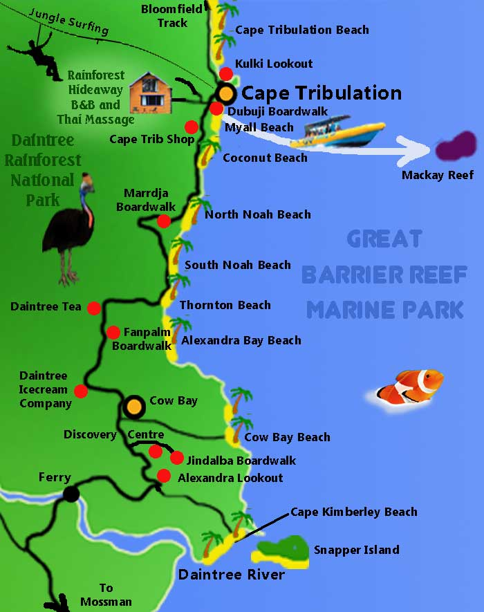 Map of the Daintree