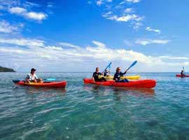sea kayaking on the Daintree coast